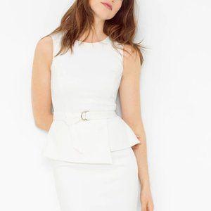 White House Black Market Peplum style dress w belt